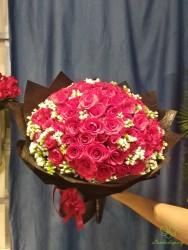 Mẫu hoa tươi sinh nhật 100 bông
